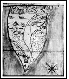 Plano de Curicó, ciudad fundada en 1743.