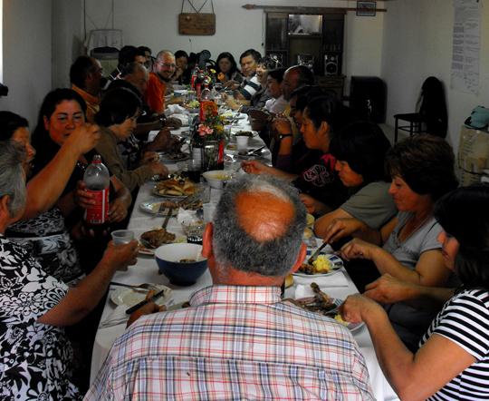 La festa che per salutarci ci ha fatto El Llano.