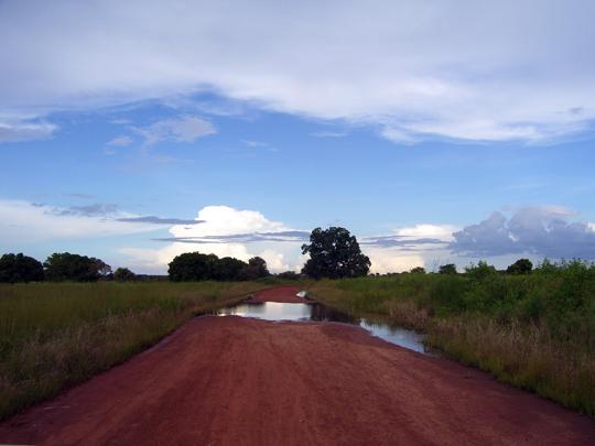 Queste le ultime nuvole dell'ultima pioggia di metà ottobre, in seguito non se ne sono più viste in cielo.