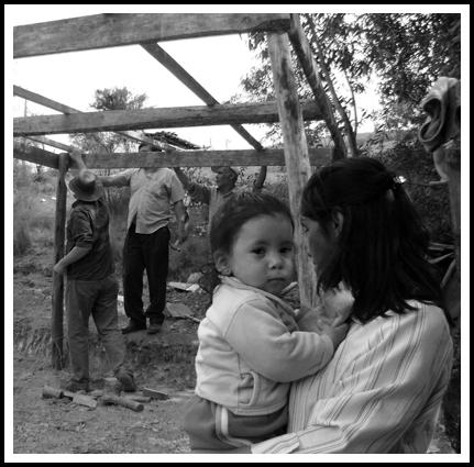 Dona Beatriz con la piccola Scarlett.
