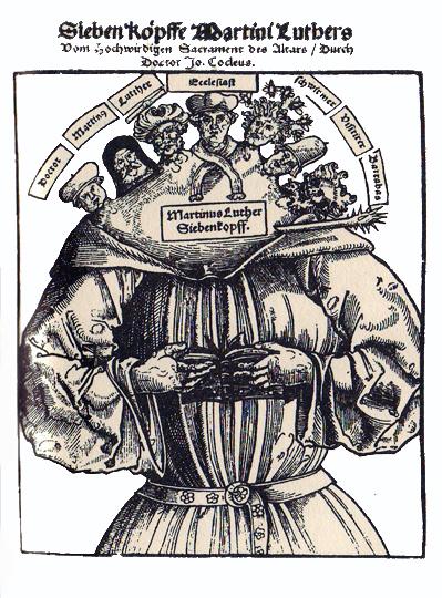 Le 7 teste di Lutero,1529.