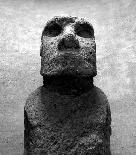 Il moai che ha fatto il giro d'Europa e che ora sta a La Serena.