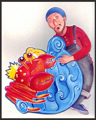 Per la locandina dello spettacolo 'Il segreto del Principe Granchio' 2004/05