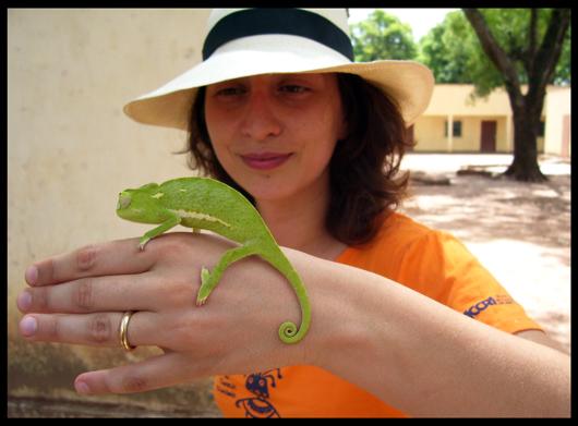 Con Nicola il camaleonte.